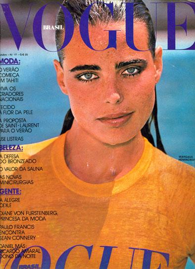 Margaux Hemingway auf Vogue