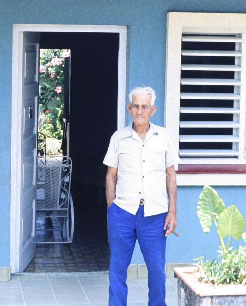 Gregorio Fuentes, Cojímar/Kuba, im April 1983 Photo by W. Stock