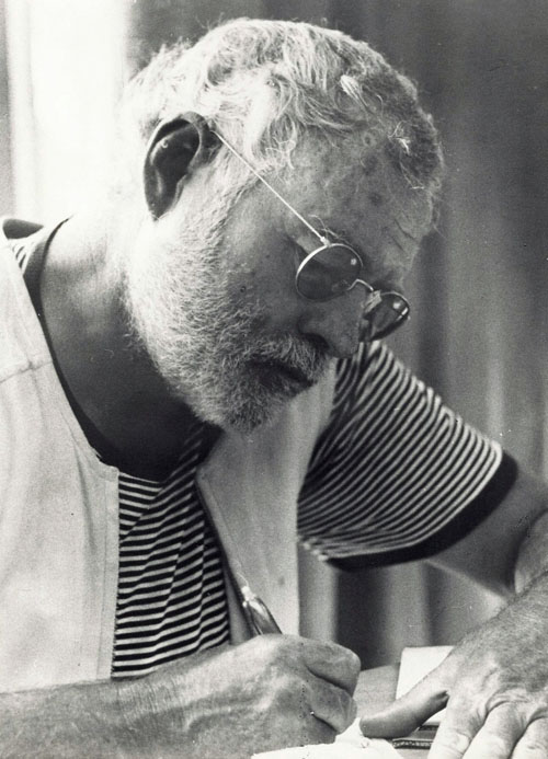 Ernest Hemingway, Cabo Blanco, im Mai 1956; Photo by Modeste von Unruh