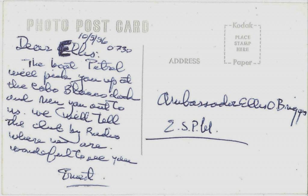 Hemingway_Post_Card_Ellis O. Briggs