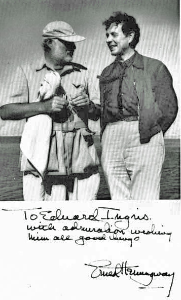 Ernest Hemingway und Eduard Ingriš Cabo Blanco, April 1956