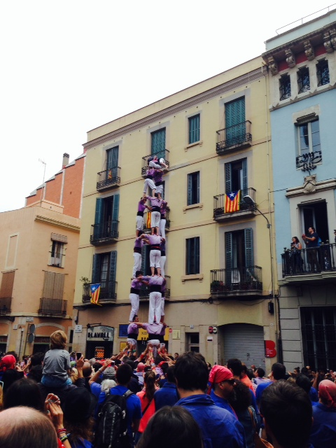 Castellers, Barcelona, im Mai 2014 Photo by W. Stock