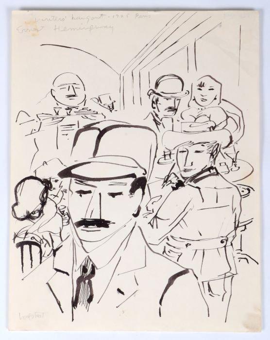 Stephen Longstreet skizziert Ernest Hemingway